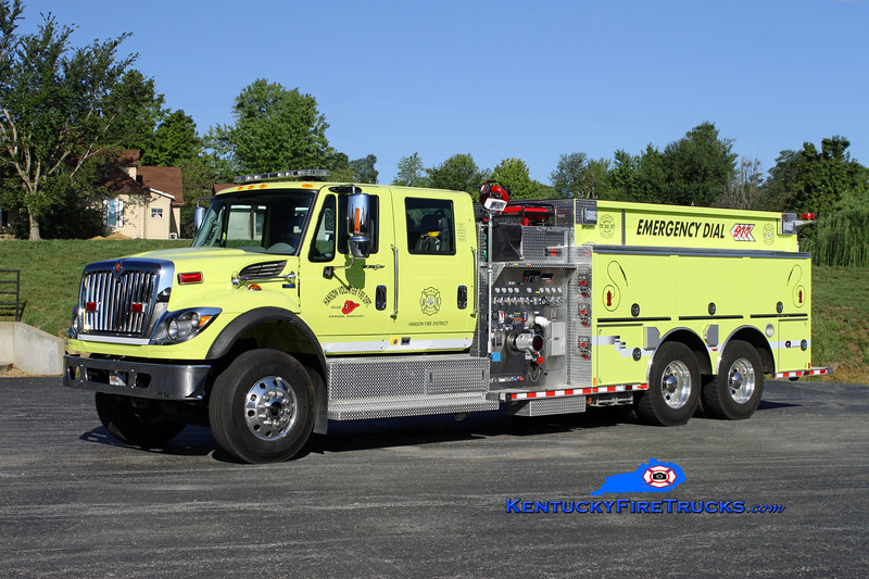<center> Hanson  Engine 2 <br> 2011 International 7500/Rosenbauer 1500/2000/30 <br> Kent Parrish photo <br> </center>