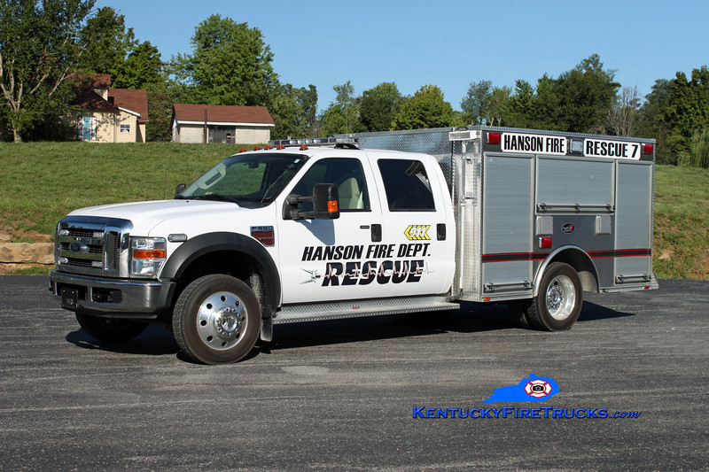 <center> Hanson  Rescue 7 <br> 2007 Ford F-550 4x4/2005 Bluegrass <br> Kent Parrish photo <br> </center>