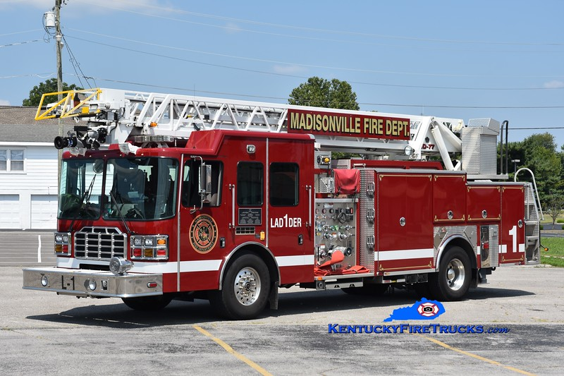 Madisonville Ladder 1<br /> x-Ladder 2 <br /> 2010 HME/Ferrara Ember 1500/500/20/77'<br /> Greg Stapleton photo