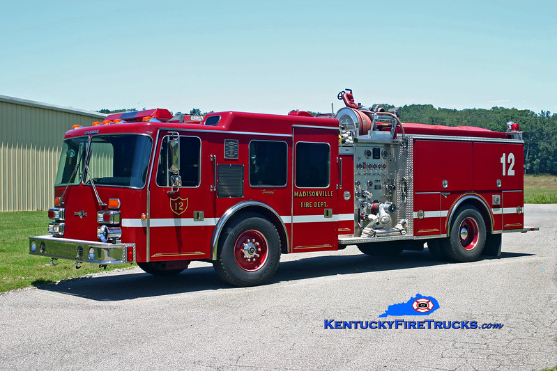 <center> RETIRED <br> Madisonville  Engine 12 <br> 1991 Simon-Duplex D-450/Grumman 1500/750 <br> Kent Parrish photo </center>