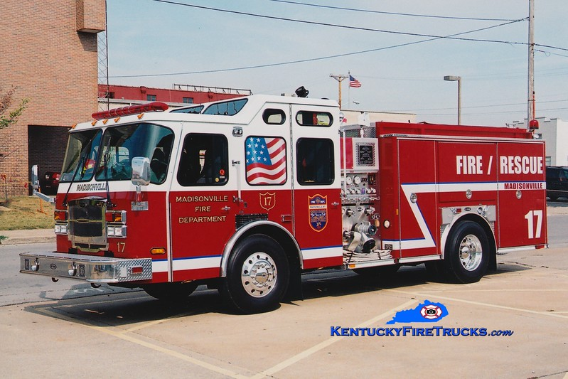 <center> Madisonville  Engine 17  <br> 2006 E-One Typhoon 1500/750 <br> Greg Stapleton photo </center>