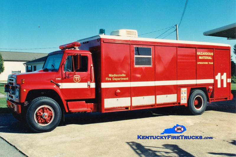 RETIRED<br /> Madisonville  Hazmat 11<br /> 1975 International/Hesse/1991 FD <br /> Greg Stapleton photo