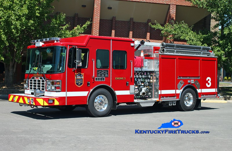 <center> Madisonville  Engine 3  <br> 2013 HME/Ferrara Ember 1750/750/30 <br> Kent Parrish photo </center>