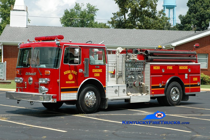 <center> RETIRED <br> Nebo  Engine 1301 <br> x-Richland, KY <br> 1986 Duplex D-350/Thibault 1250/1000 <br> Greg Stapleton photo </center>