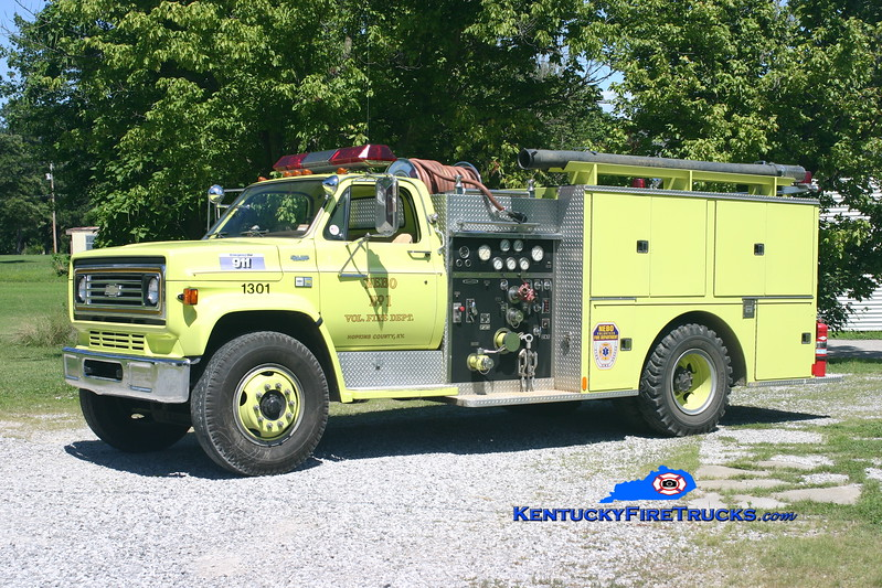<center> RETIRED <br> Nebo  Engine 1301 <br> 1983 Chevy C70/Quality 750/1000 <br> Kent Parrish photo </center>
