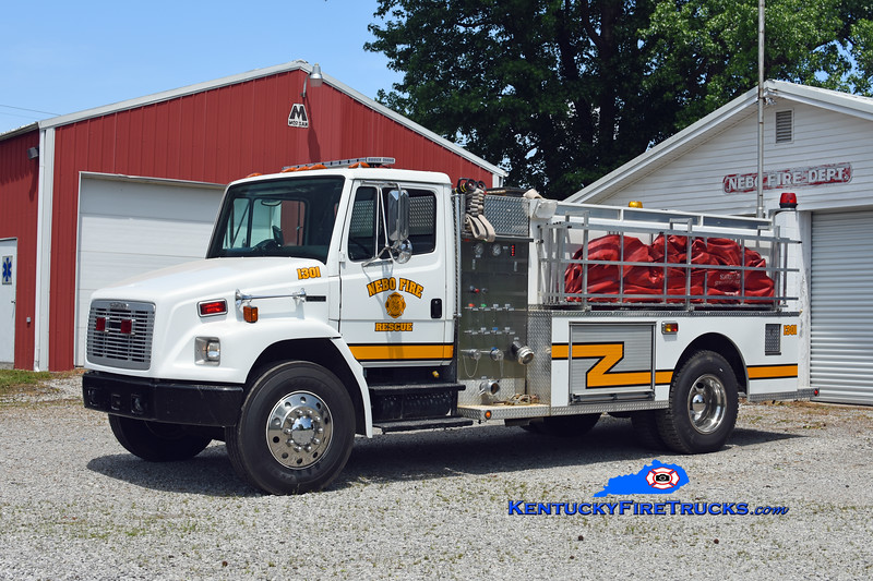 Nebo  Engine 1301<br /> x-Richland, KY<br /> 1999 Freightliner FL80/Helton Metal Words 450/1800<br /> Kent Parrish photo