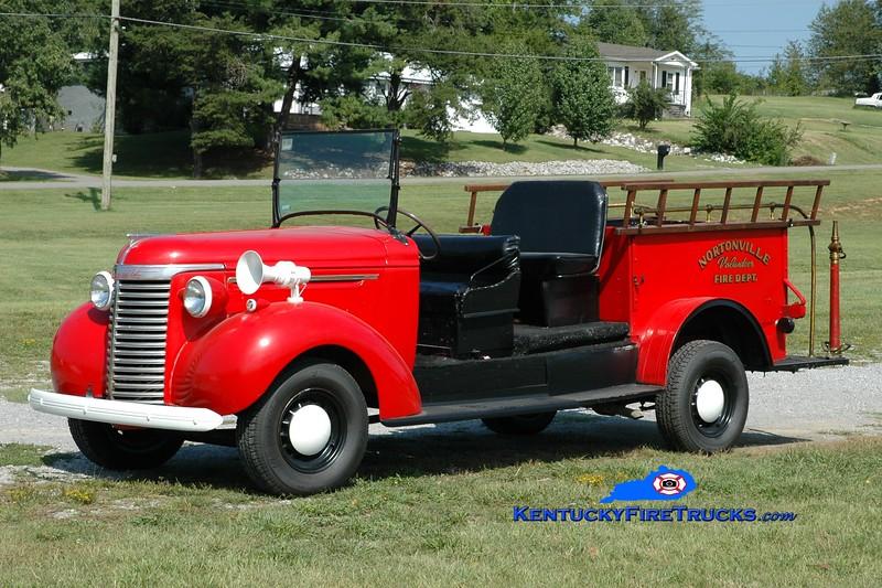 <center> Nortonville  Antique  <br> 1940 Chevy hose wagon  <br> Greg Stapleton photo </center>