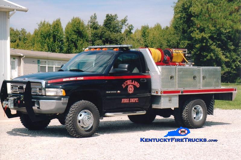 <center> RETIRED <br> Richland  Brush 406 <br> 2002 Dodge Ram 3500 4x4/Gerry's Automotive 250/250 <br> Greg Stapleton photo </center>