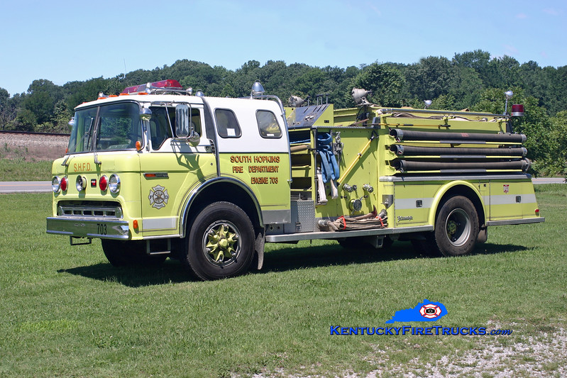 <center> RETIRED <br> South Hopkins  Engine 703 <br> x-Staatsburg, NY <br> 1978 Ford C-8000/Young 1000/1000 <br> Kent Parrish photo </center>