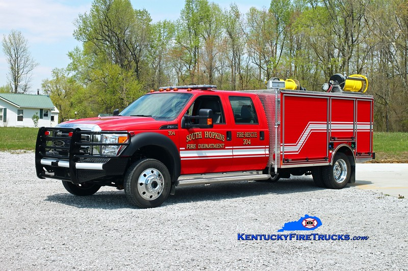 South Hopkins  Rescue 704<br /> 2015 Ford F-550 4x4/Pierce 265/275/10<br /> Kent Parrish photo