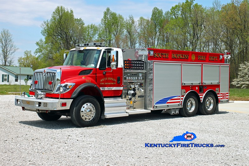South Hopkins  Tanker 702<br /> 2015 International 7500/Bluegrass 750/3000/30<br /> Kent Parrish photo
