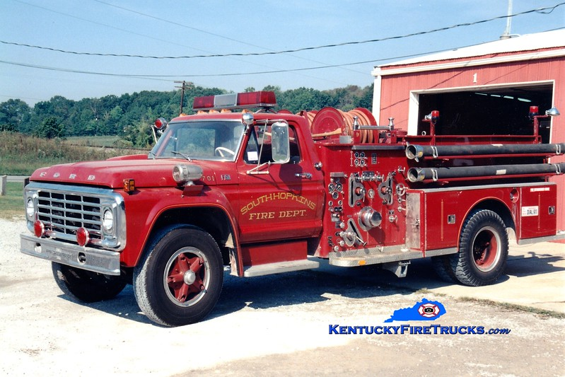 <center> RETIRED <br> South Hopkins  Engine 701 <br> x-Old Hickory, TN <br> 1973 Ford F-750/American LaFrance 1000/500 <br> Greg Stapleton photo </center>