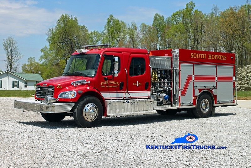 South Hopkins  Engine 701<br /> 2014 Freightliner M2-106/Pierce 1250/1000/30<br /> Kent Parrish photo