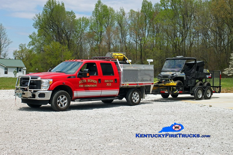 South Hopkins Brush 703<br /> 2014 Ford F-350 4x4/Finley 375/250/10<br /> 2014 Polaris 6x6/Finley 120/65/5<br /> Kent Parrish photo