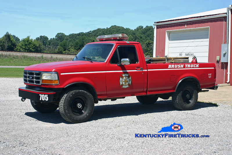 <center> RETIRED <br> South Hopkins  Brush 705 <br> 1992 Ford F-350 4x4/SHFD 100/150 <br> Kent Parrish photo </center>
