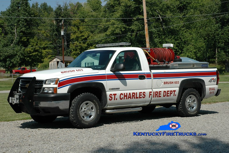 <center> St. Charles Brush 603 <br> 2005 Chevy 2500 4x4/Gerry's Automotive 250/250 <br> Greg Stapleton photo </center>