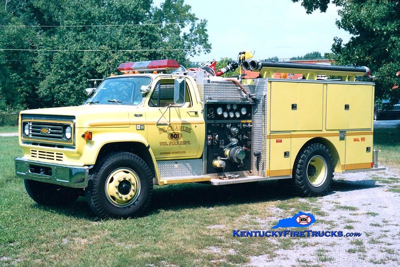 <center> RETIRED <br> St. Charles Engine 601 <br> 1983 Chevy C70/Quality 750/750 <br> Greg Stapleton photo </center>