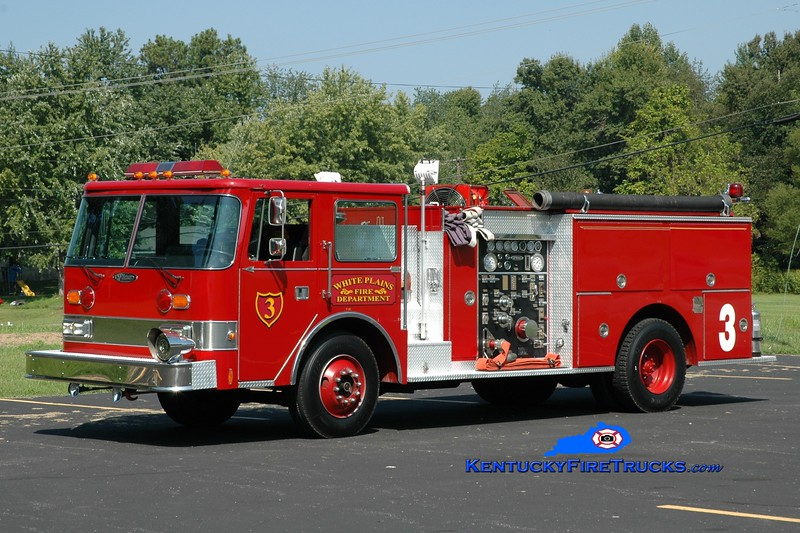 <center> White Plains  Engine 103 <br> x-Madisonville, KY <br> 1987 Pierce Arrow 1500/500 <br> Greg Stapleton photo </center>