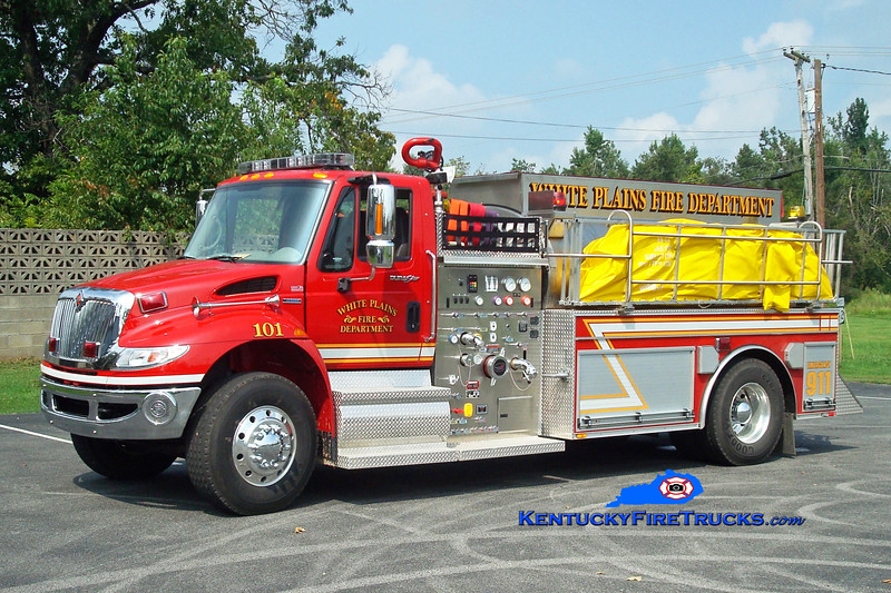 <center> White Plains  Tanker 101 <br> 2008 International 4400/Bluegrass 750/2000 <br> Greg Stapleton photo </center>