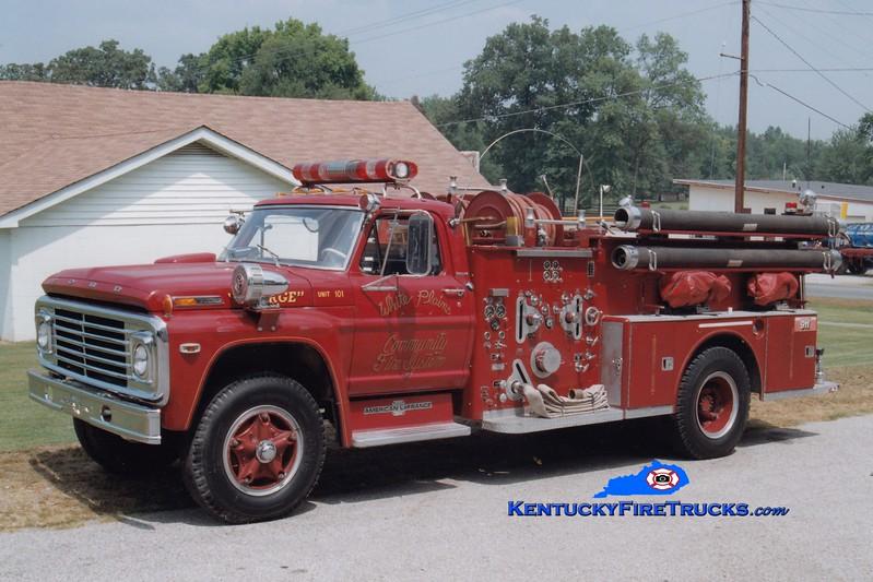 <center> RETIRED <br> White Plains  Engine 101 <br> x-Whites Creek, TN <br> 1972 Ford/American LaFrance 1000/500 <br> Greg Stapleton photo </center>