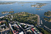 Kaivopuisto from the air, Helsinki, Finland