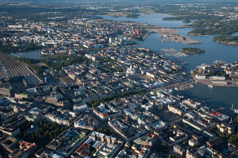 Helsinki from the air, Finland
