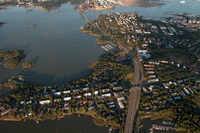 Lauttasaari from the air, Helsinki, Finland