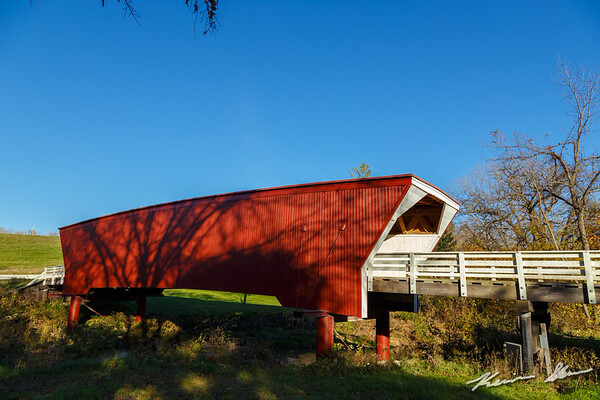 The Cedar covered bridge in the late afternoon light