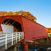 Fall twilight falls over the Hogback covered bridge