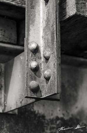 Rivet detail on the bridge