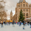 Skating at the Natual History Museum, London