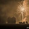 Fireworks over the Slater storage silos