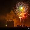 Fireworks over the Slater storage silos