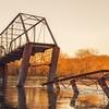 The Sun Sets on the Wagon Wheel Bridge
