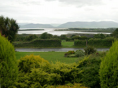 The view from our room, looking north across Dingle Bay towards The Dingle Peninsula.