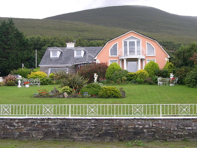 The Ocean View Guesthouse in Glenbeigh, Ireland (along the Ring of Kerry).