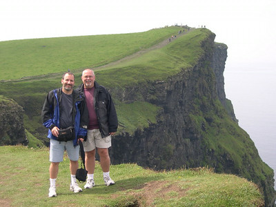 Joe and Ed at the Cliffs of Moher on the western edge of The Burren.