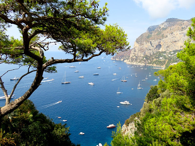 View from Belevedere Tragara on the southern side of Capri, overlooking Marina Piccolo. It's a nice walk from the main town of Capri.