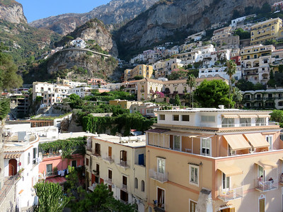 Exploring the town of Positano.
