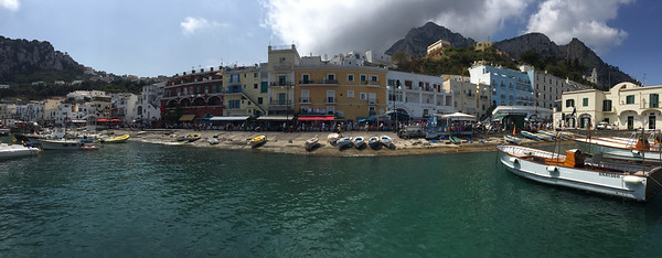 The port town of Marina Grande in Capri.