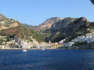 Amalfi, the largest town along the Amalfi Coast between Sorrento and Salerno.