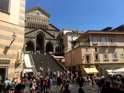The Duomo in the main piazza in Amalfi.