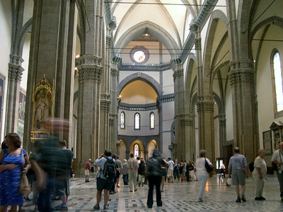 Inside the great Duomo in Firenze, built to hold more than 20,000 people.