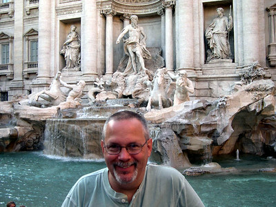 Here's Ed at the Trevi Fountain. Each year we toss a coin in, and each year we return -- there must be something to the old legend!