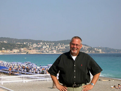 Ed on the French Riviera in Nice, France.