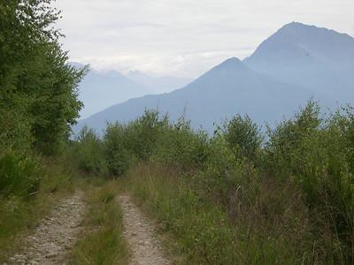 High in the mountains above Menaggio and Lago di Como