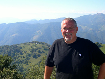 On top of Monte Bisbano on the Swiss border (a key defensive post in WWII)