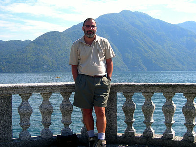 Joe in the town of Colonno on Lago di Como