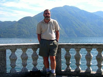 Joe in the town of Colonno on Lago di Como