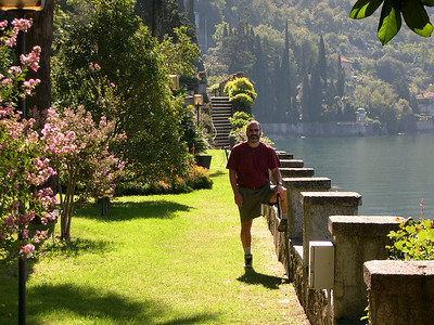 On the grounds of Villa Monestero in Varenna